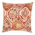 Summer Breeze 18-inch Throw Pillow in Crimson | Overstock.com Shopping - The Best Deals on Throw Pillows