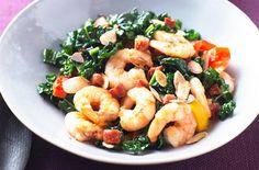 Cavelo, prawn and chorizo stir-fry