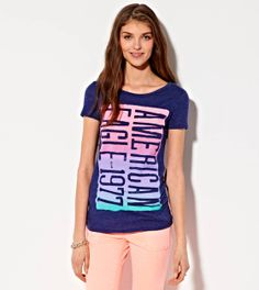 Evening Blue AE Bold Graphic T-Shirt