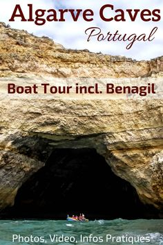 Portugal Algarve - Photos and video of the awesome Boat trip to the Algarve Caves and along the Algarve coast - Discover many of the Grottos including the stunning Benagil sea Cave ! ** Portugal Travel | Portugal beach | Portugal things to do | Algarve Beach - algarve portugal things to do