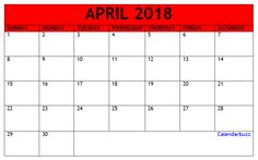 Download April  Calendar Template   Calendar Templates