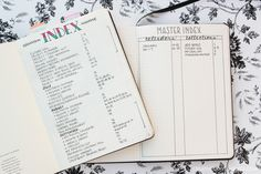 Indexing Styles for Bullet Journal Migration