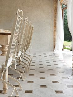 country chic patio - #microtopping #concrete effect wall - dream house http://www.idealwork.com/Micro-Topping-Features-and-benefits.html