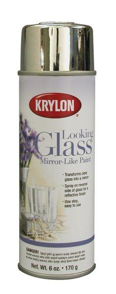The Prudent Pantry: Krylon Looking Glass Mirror-Like Aerosol Spray Paint, 6-Ounce, $8.73