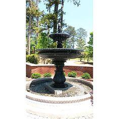 Beautiful fountain at Alpharetta City Hall.