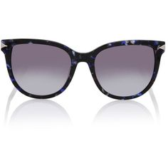 Karl Lagerfeld Arrow (920 HRK) ❤ liked on Polyvore featuring accessories, eyewear, sunglasses, blue marble, retro glasses, two-tone sunglasses, retro style sunglasses, logo sunglasses and blue lens glasses