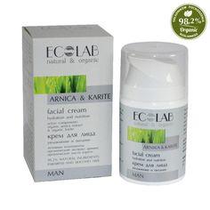 Facial Cream, Organic, Personal Care, Bottle, Men, Beauty, Polyvore, Arnica Montana, Carnelian