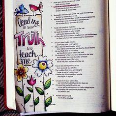 arts, bible, and colors image Faith Bible, My Bible, Bible Art, Bible Scriptures, Bible Study Journal, Scripture Study, Scripture Journal, Art Journaling, Scripture Doodle