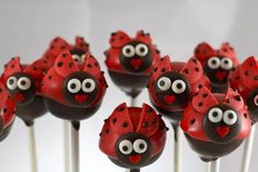 lady bug cake pops could be good for board gifts since the lady bug is our state insect