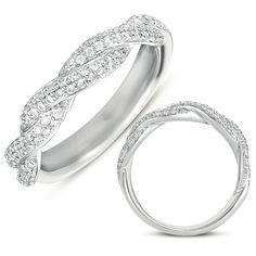 Infinity Wedding Band EN7350,.49cts of natural diamonds, $1,431.00 (http://www.manmadelabdiamonds.com/matching-band-for-en7350-en7350-bwg/) #manmadelabdiamonds #weddingband