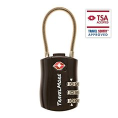 TSA Approved Travel Combination Cable Luggage Locks for Suitcases  Backpacks  1 Pack of Black TSA Lock *** Continue to the product at the image link.