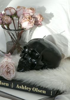 Killstar Black Skull Candle you could always use another human skull, right bb? Scent the room with sensual sandalwood while you burn this 2 ½ pound life size wax skull candle and carry on with yer incantations.