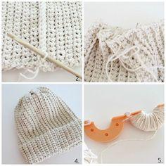 Virkattu pipo // OHJE | Lämmin ilo | Bloglovin' Knit Crochet, Crochet Hats, Diy And Crafts, Knitting, Accessories, Jewelry, Tutorials, Fashion, Knitting Hats