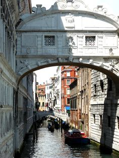 Venice. Picture of the sigh bridge. The view from the Bridge of Sighs was the last view of Venice that convicts saw before their imprisonment.