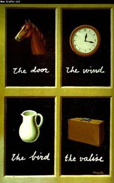 René Magritte, La clef des songes (The Interpretation of Dreams), Oil on canvas. Rene Magritte, Jasper Johns, Moma, Magritte Paintings, Oil Paintings, John Berger, Dream Interpretation, Ways Of Seeing, Art Moderne