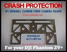 Protect your camera & gimbal with the #1 Selling Carbon Fiber Camera Guard  #DJI #phantom uavbits.net
