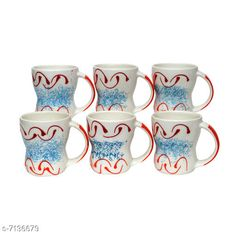 Cups, Mugs & Saucers Coffee / Milk Mugs, Set of 6 Material: Ceramic Pack: Multipack Length: 4 Inch Breadth: 4 Inch Height: 4 Inch Size (in ltrs): 350 ml Country of Origin: India Sizes Available: Free Size   Catalog Rating: ★4.3 (437)  Catalog Name: Fancy Cups Mugs & Saucers CatalogID_1139386 C190-SC2066 Code: 353-7136679-999