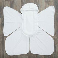 Big Bee little bee Snow Angel Cushioned Baby Bath Towel
