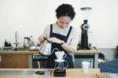 Morning brew at Kurasu Kyoto. Pouring Guatemala Hunapu Bella Vista by Single O Japan @single_ojapan