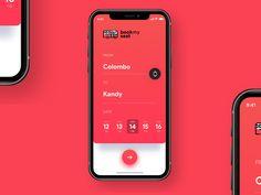 Bus Booking App – Design is art Web Design, App Ui Design, Interface Design, Design Layouts, Flat Design, User Interface, Graphic Design, Mobile Wallet App, Mobile App Ui