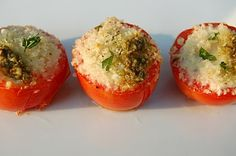 Goat cheese stuffed tomatos. Mom found this and looks delish!