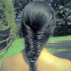 my braid at the swimming pool :3
