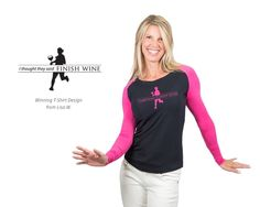 Long Sleeve Personali-Tee - Finish Wine by Skirt Sports