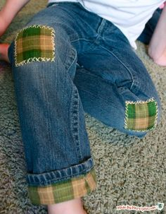 Here are a few modern methods for mending your child's worn-out jeans– without sacrificing style.