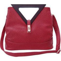 Ann Creek Triangle Handle Bag Red | Overstock.com - i <3 this style