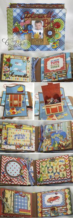 Terry's Scrapbooks: Carta Bella Toy Box Mini Photo Album
