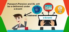 Passport, Pension and DL will be e-Delivered under e-Kranti. #ekrant #edelivered #aadhaarcard #itr More info @ https://www.moneydial.com/passport-pension-dl-will-e-delivered-e-kranti/
