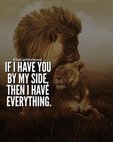 Relationship quotes - You can have all the money in the world, but what does it all mean if you don't have love Lioness Quotes, Lion Couple, Lion And Lioness, Fierce Lion, King Quotes, My Queen Quotes, Lion Love, Warrior Quotes, Love Quotes For Him