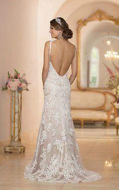 2014 hot Lace White/Ivory Bridal Gown Wedding Dress Custom Size 6 8 10 12 14 16+