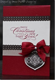 Pretty and simple ornament card by MarylinJ