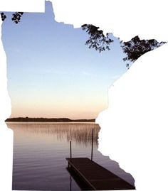 Lake Minnesota Photo Print. Could do this with each state for a large decorative map!