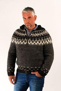 7b765556bfbc Skipper Wool Cardigan w Hood Grey - Wool Sweaters - Shop Icelandic Products  - 1. Shirley Williamson · Mens knit wear