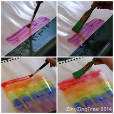 Rainbow Paint Bleed Art is not only fun but creates the most beautiful blends and patterns.