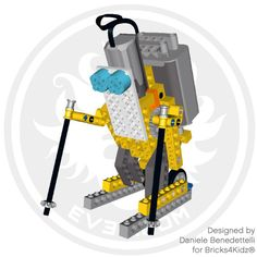 LEGO Technic motorized skier