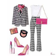 Checked Suit, Polyvore Fashion, Suits, Suit, Wedding Suits