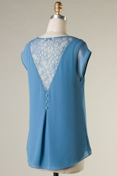 Lace Maggie Top in Blue on Emma Stine Limited