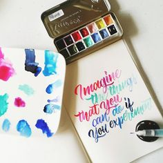 Imagine the things that you can do if you experiment #calligrafikas #shinhanwatercolors