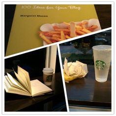 My Tuesday morning at Starbucks ... A writer's day begins.