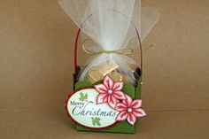 Grand Treat Basket  by Theresa Momber  Create a darling basket out of a scalloped circle die cut.