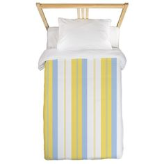 Yellow & Blue Stripe Twin Duvet