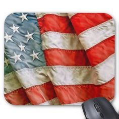American Flag Patriotic Mouse Pad - birthday gifts party celebration custom gift ideas diy