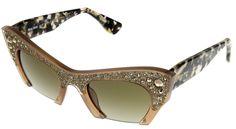 7b1441e490d2 Amazon.com  Miu Miu Sunglasses Women Talc Cat Eye MU02QS TV01X1  Clothing