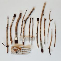 Maple brushes made from the pieces we collect beneath the maple trees of the Sugarhouse Homestead in Vermont. Great for gouache & watercolor and the perfect accompaniment to our studio collection of paint pots and palettes. Ceramic Shop, Ap Art, Painted Pots, Mark Making, Paint Brushes, Art Techniques, Art Tutorials, Watercolor Art, Art Drawings