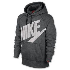 pretty nice 5437e b4c3e Men s Nike AW77 Fleece Pullover Hoodie   Finish Line   Charcoal  Heather White Modelos,