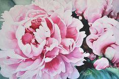 Peonías rosas, Maria Sánchez  Hernández