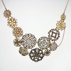 Etsy shop update:  statement necklace  filigree necklace  wedding by AdornmentsNYC, $225.00